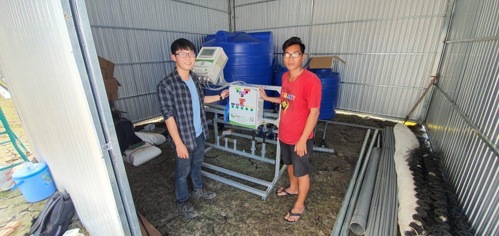 Anh Tiến đầu tư hệ thống châm phân dinh dưỡng tự động Nextfarm Fertikit 4G