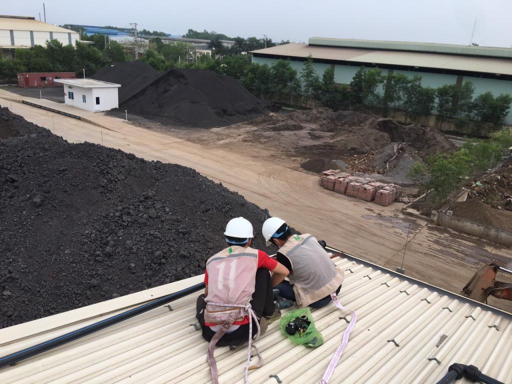 Nextfarm lắp đặt hệ thống phun mưa dập bụi tự động trên mái xưởng