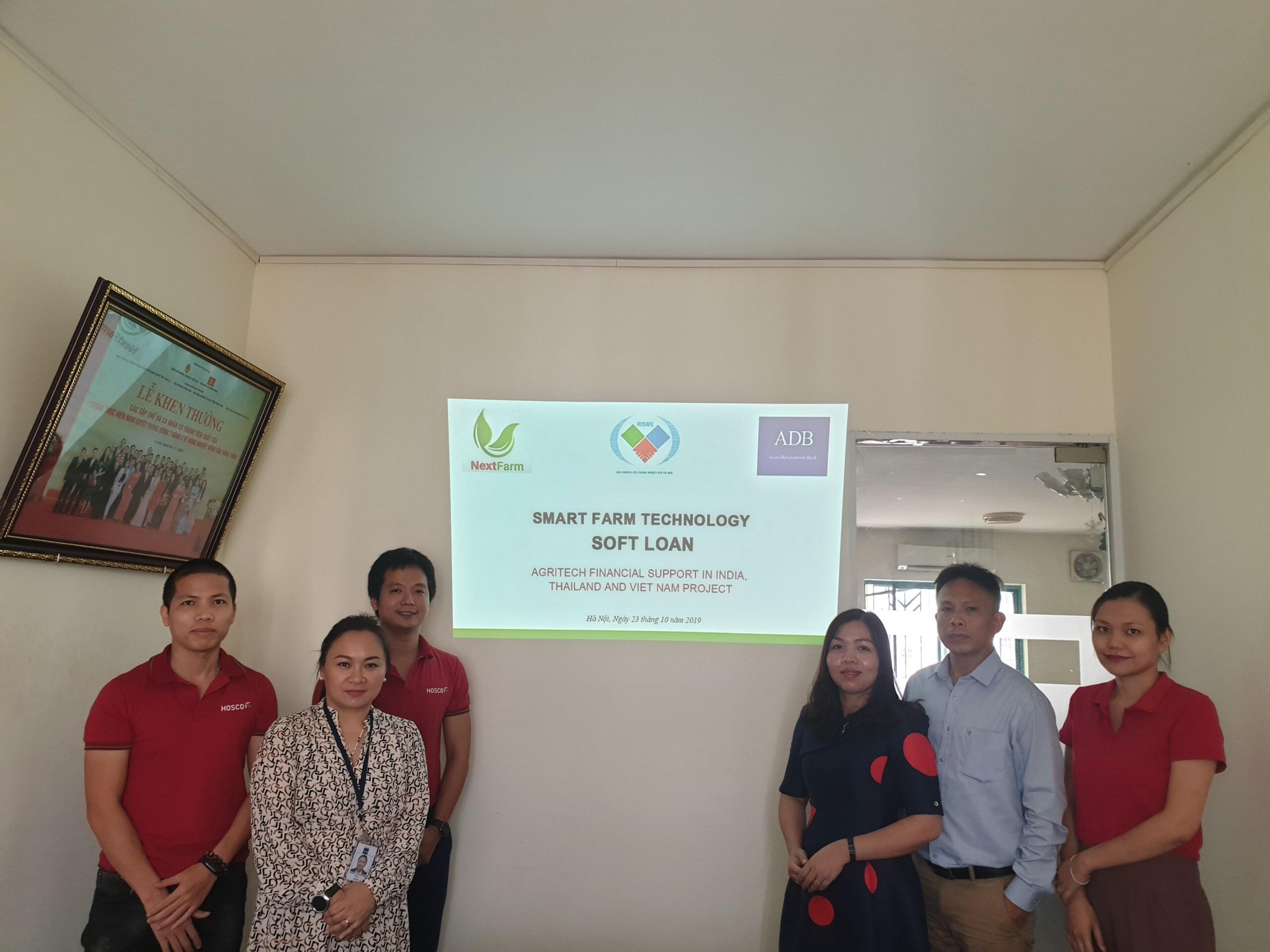 Nextfarm hợp tác với Ngân hàng Phát triển Châu Á (ADP) trong dự án Tài chính và Tăng trưởng cho dự án tiêu biểu công nghệ Nông nghiệp thông minh tại Ấn Độ, Việt Nam và Thái lan qua sự giới thiệu Viện Risme