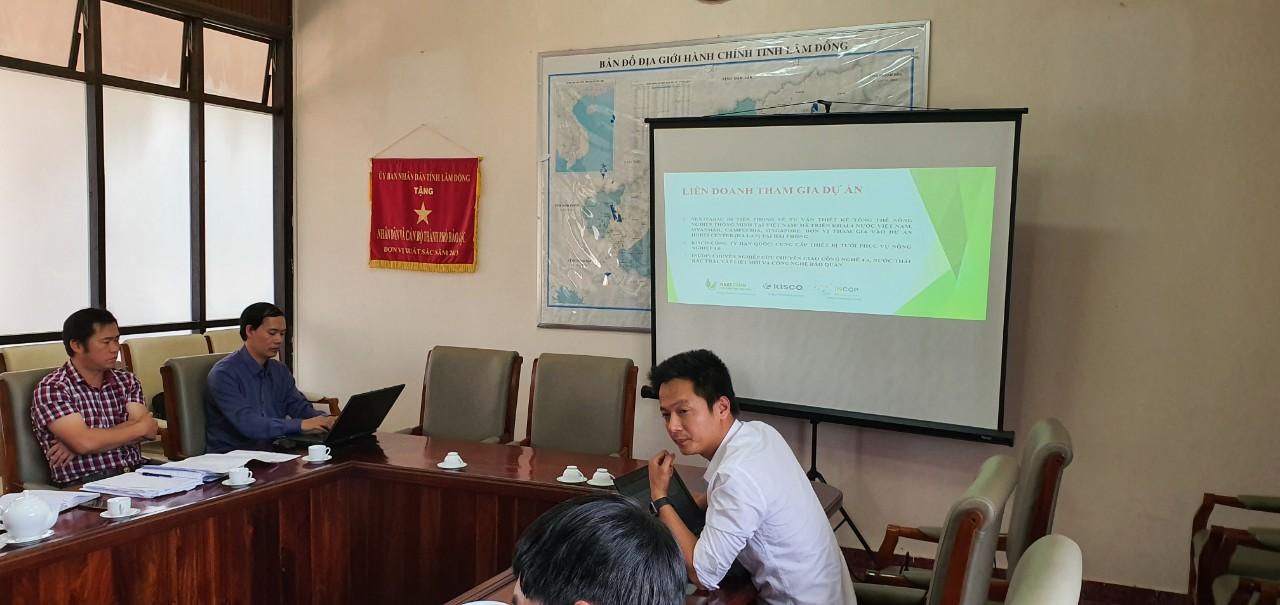 Đại diện Nextfarm làm việc cùng Chủ tịch Thành phố Bảo Lộc, Lâm Đồng
