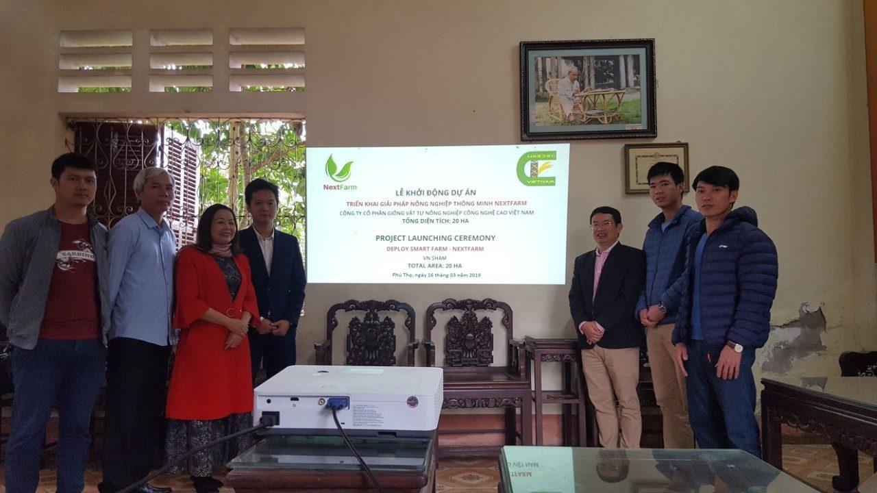 Lễ khởi động dự án triển khai Giải pháp Nông nghiệp thông minh 4.0 Nextfarm cho 20ha của Công ty Giống Vật tư NNCNC Phú Thọ