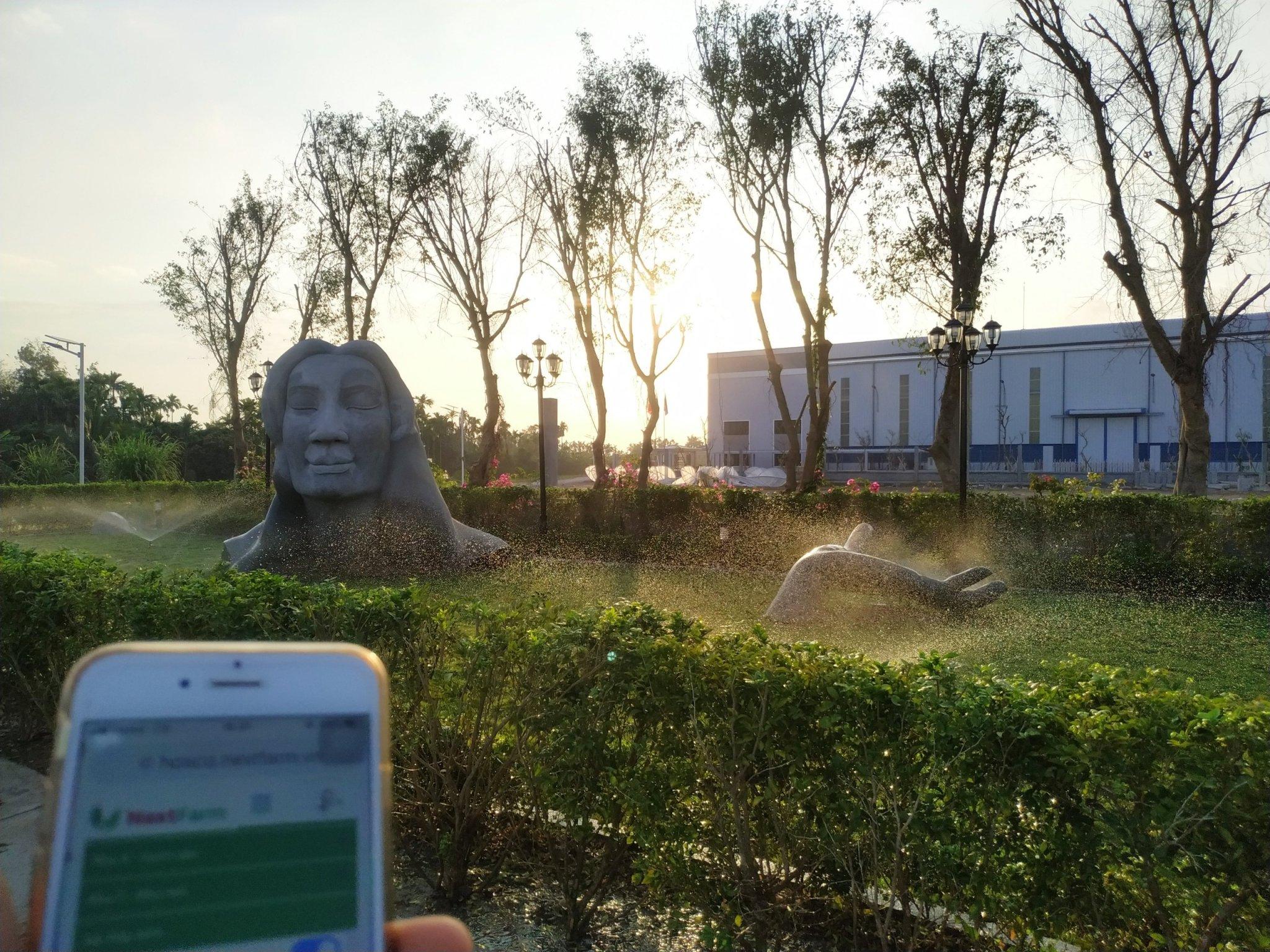 hệ thống tưới tự động sân vườn biệt thự Nextfarm