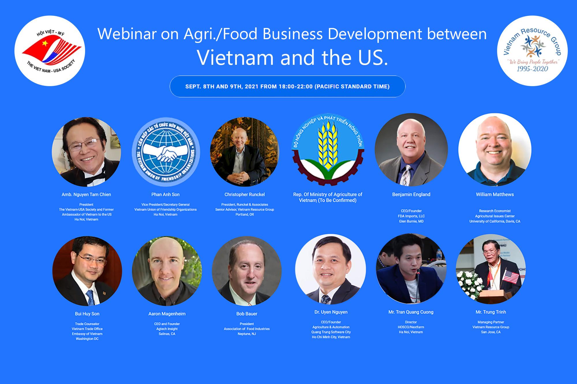 CEO Nextfarm làm diễn giả phát biểu tại tọa đàm trực tuyến Giao lưu Việt Mỹ – Cơ hội hợp tác giao thương kinh doanh Nông sản